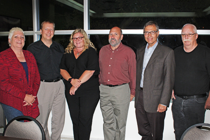 (From left) Susan Norman, Kevin Rebeck, Kelly Moist, Neil Cohen and John Doyle